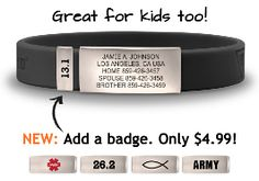 The Wrist ID Slim is worn by top athletes, but is also a perfect ID bracelet for kids. This pint-size fella is jam-packed with peace of mind for parents. Laser engraved with your emergency contact information.
