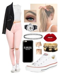 """Flawless (I woke up like this!!)"" by elliethemunchkin on Polyvore featuring beauty, Ally Fashion, Zizzi, Converse, Lime Crime, Forever 21, Casetify and Disney"