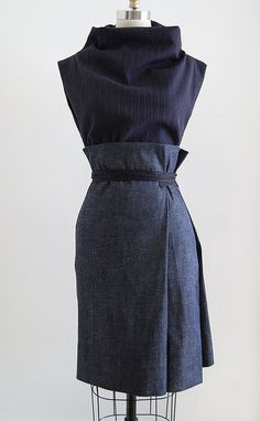 twofold | UNIFORM Studio twofold pencil wrap skirt in deep i… | Flickr