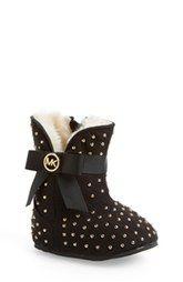 MICHAEL Michael Kors 'Baby Grace' Crib Shoe (Baby)