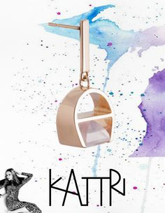 Have a good week!  Parabola earring in Rose Gold & Rose Quartz. #KATTRI #Jewellery #ContemporaryFineJewellery