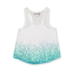 Dream Out Loud by Selena Gomez Junior's Tank Top - Sequined Ombre - Clothing - Juniors - Tops