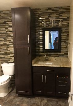 General Contractor Chris Graham And North Hills Flooring Worked Together To Create This Stunning Bathroom With A Wall Of Mosaic Tile In Chesepeake Steel
