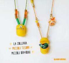 Quandofuoripiove: La collana fai-da-te per i piccoli tesori dei piccoli bambini