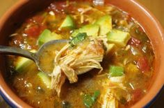 Chicken Tortilla-Less Soup   (Paleo)