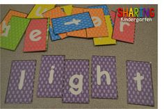 Sharing Kindergarten: Sight Word Station Ideas... word puzzles
