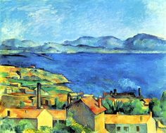 Baie de Marseille vue de Estaque - Paul Cezanne