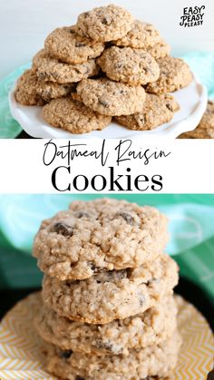 Soft Batch Oatmeal Raisin Cookies using your pantry staples for a satisfying sweet treat that your family will devour. Easy Delicious Recipes, Delicious Desserts, Yummy Food, Easy Recipes, Cookie Recipes, Dessert Recipes, Pie Recipes, Dinner Recipes, Oatmeal Raisin Cookies