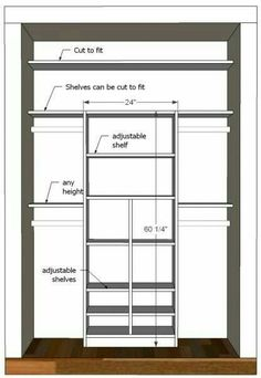 Standard Closet Rod Height Interesting Tom Builds Stuff Diy Closet Organizer Plans For 5' To 8' Closet Design Decoration
