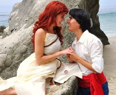 Ariel and Prince Eric cosplay