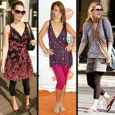 0cc67569ee7d8 How to Wear Leggings with a Summer Dress? Cute Summer Outfits with Leggings
