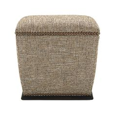 "Asher 20"" Upholstered Storage Ottoman in 9495 Sepia 