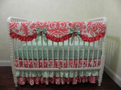 Baby Bedding Crib Set Maleah New! : Just Baby Designs, Custom Baby Bedding Custom Crib Bedding Custom Nursery Bedding