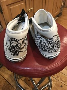 ef9fac69dcb022 SUPER RARE VANS SUEDE EMBROIDERED FLYING SKULL AND ROSES 11.5  fashion   clothing  shoes  accessories  mensshoes  athleticshoes (ebay link)