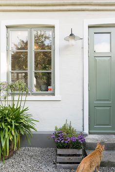 Outdoor a sorpresa Exterior Colors, Exterior Paint, Interior And Exterior, Home Decor Dyi, Small Cottage Homes, Cottage Exterior, English House, House Painting, Windows And Doors