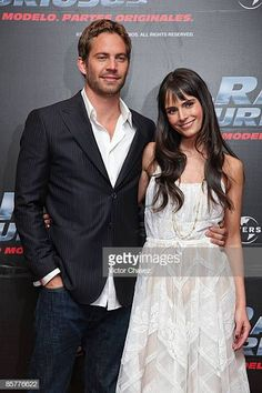 """Actor Paul Walker and actress Jordana Brewster attends the """"Fast & Furious"""" photo call at the Marriot Hotel on March 2009 in Mexico City. Get premium, high resolution news photos at Getty Images Paul Walker Death, Actor Paul Walker, Jordana Brewster Paul Walker, Paul Walker Pictures, Furious Movie, Brittany Murphy, Star Wars, Fast And Furious, Celebs"""