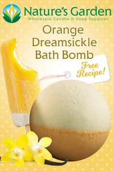 Free Orange Dreamsickle Bath Bomb Recipe by Natures Garden