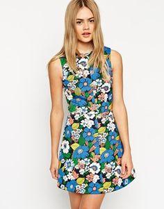 Enlarge ASOS A-Line Dress in Flower Power Print