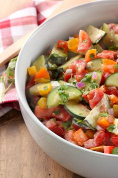 Simple, fresh, and packed with flavor, this Creamy Ranch Tomato Cucumber Salad will soon be your go-to summer salad! Pair it with your favorite grilled meat for