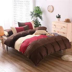 3Pcs Striped Printing Bedding Set Duvet Cover Sets Bed Include Pillowcase Full Queen King Size