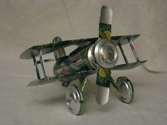 plane made out of aluminum can