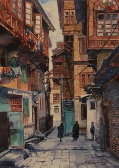View Masood Hussain's Artwork on Saatchi Art. Find art for sale at great prices from artists including Paintings, Photography, Sculpture, and Prints by Top Emerging Artists like Masood Hussain. Watercolor Landscape, Landscape Paintings, Watercolor Paintings, Watercolours, Oil Paintings, Pakistan Art, Lahore Pakistan, Bedroom Wall Collage, Street Painting