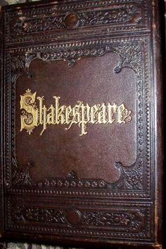 John's book by William Shakespeare. The poetry is of a great man. I wish to make an impression with words such as this man of the past has done. Old Books, Antique Books, Vintage Books, I Love Books, Books To Read, Illustration Art Nouveau, William Shakespeare, Book Nooks, Library Books