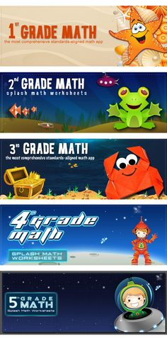 Get your kids ready for a fun-filled ride through the School grade curriculum. Splash Math Apps are fun and innovative way to practice math.