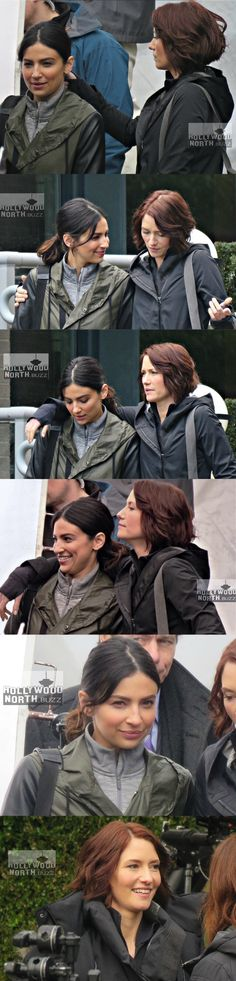 Sanvers filming for 2x17 - Alex Danvers - Maggie Sawyer - Supergirl - Season 2