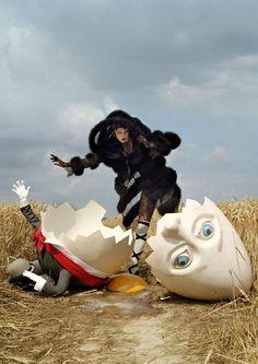 Humpty Dumpty by Tim Walker. (Vogue) #fashionphotography