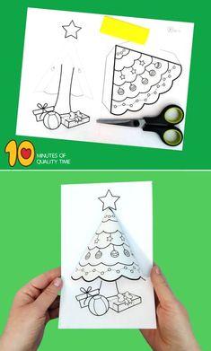 Christmas tree activity for kids - # christmas tree activity - Bastelideen Kinder - Preschool Christmas, Christmas Crafts For Kids, Christmas Printables, Christmas Projects, Winter Christmas, Kids Christmas, Holiday Crafts, Christmas Bells, Holiday Activities