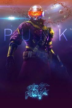 Daft Punk meets Destiny - Hero Robot No. Electro Music, Dj Music, Daft Punk, Cyberpunk 2077, Techno, Thomas Bangalter, Character Art, Character Design, Destiny Game