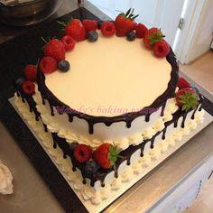 Mandy's baking journey: Two tiered Forest fruit cake Vegan Fruit Cake, Chocolate Fruit Cake, Fresh Fruit Cake, Fruit Birthday Cake, Fruit Wedding Cake, Doberge Cake, Christmas Themed Cake, Fruit Cake Design, Horse Cake