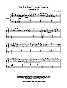 For the First Time in Forever - free piano sheet music. MORE: www.PianoBragSongs.com.