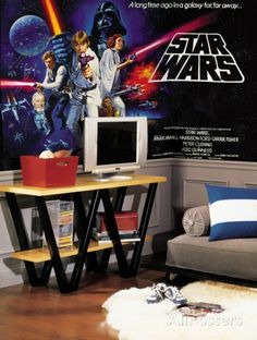 Star Wars Classic Chair Rail Prepasted Mural 6' x 10.5' Wall Mural at AllPosters.com
