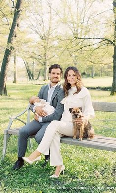 On April 19, 2016, the couple welcomed their first child, a son, Alexander, officially titled Prince Alexander Erik Hubertus Bertil, Duke of Sodermanland.  A few weeks after the young boy's birth, the family posed for their first official royal portrait together.