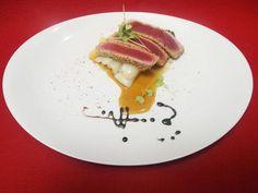 Thunfisch-Sashimi mit Teriyaki-Soße