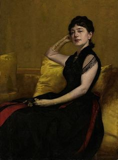 Kate Field - a young American woman who Trollope met late in life and became extremely fond of. Portrait by Francis Davis Millet. American Realism, American Artists, Potrait Painting, Moving To Boston, Boston Public Library, Gilded Age, High Society, Life, Chicago Tribune