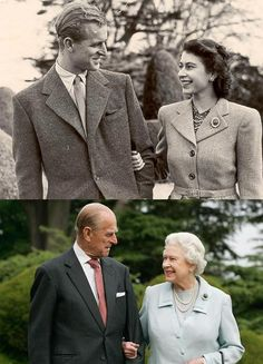 Then and now. Queen Elizabeth and her prince.