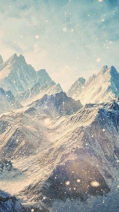 Himalayan Mountains Snowfall iPhone 6 wallpaper.
