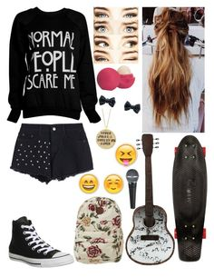 """Preforming!!!"" by k17dunn ❤ liked on Polyvore featuring beauty, Converse, Eos, Billabong, Quiksilver and Alisa Michelle"