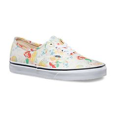5f970b6031 Disney Authentic Vans. Womens Ariel Shoes. Maybe the best shoes ever.
