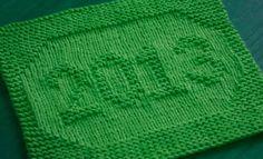 Knitting Galore: 2013 Dishcloth