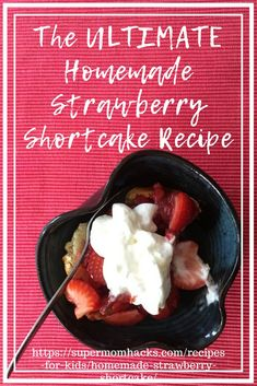 Have you ever had a homemade strawberry shortcake? If not, you're in for a real treat when you try my dad's Ultimate Homemade Strawberry Shortcake recipe! how to make strawberry shortcake Peach Shortcake, Blueberry Shortcake, Homemade Strawberry Shortcake, Strawberry Topping, Easy Desserts, Delicious Desserts, Dessert Recipes, Dessert Ideas, Yummy Recipes