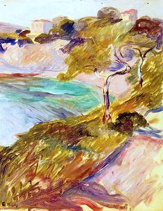 Trees by the Mediterranean Edvard Munch - 1892