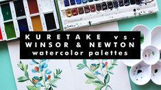 KURETAKE vs. WINSOR & NEWTON WATERCOLORS | Which one is better? Kuretake Gansai Tambi, Winsor And Newton Watercolor, Speed Paint, Watercolors, Etsy Store, Palette, Sketch, Make It Yourself, Illustration