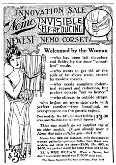"An advertisement for corsets, published in the Trenton Evening Times (Trenton, New Jersey), 11 January 1915, page 10. Read more on the GenealogyBank blog: ""Newspaper Archives of Grandma & Grandpa's Tips from 100 Years Ago"" https://blog.genealogybank.com/newspaper-archives-of-grandma-grandpas-tips-from-100-years-ago.html"