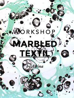 Workshops: - Marbled Suminagashi - Marbled Europeo - Especial Papel  ** Domingo 9 de marzo en Mutuo centro de Arte, Barcelona **  --> Apúntate en www.attina.info/workshops