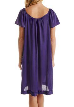 9d43c76c6050f Vanity Fair Women s Coloratura Sleepwear Short Flutter Sleeve Gown 30109   Coloratura