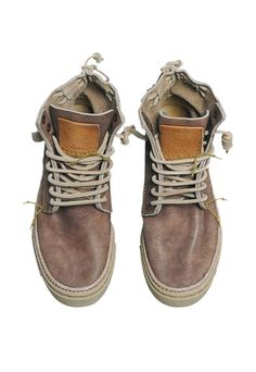 Unisex Tagomago Brown Leather High Casual Shoes - Satorisan